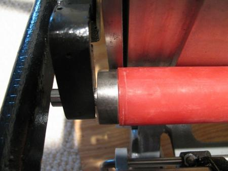 image: shows how no notches in the roller core affects the rollers...they move and this shows they will make an inky mess on my rails.