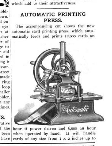 "image: 1907 American Stationer article about ""new press""... this one looks like mine more than any other ad or image so far."
