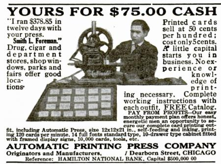 image: 1910 Ad for ''The Automatic''
