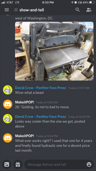 image: Show and Tell - Letterpress Discord Group