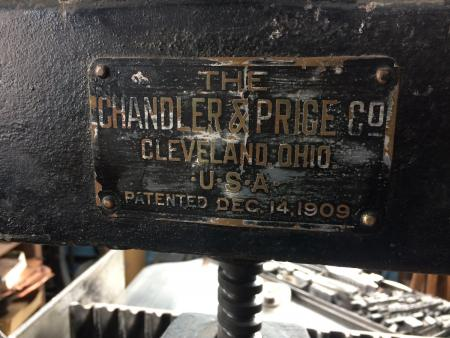 image: Chandler and Price Paper Cutter