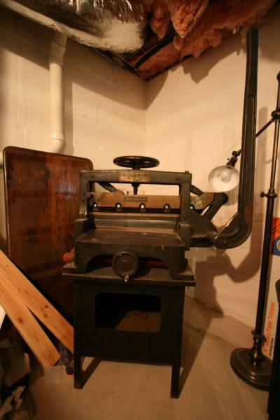 "image: 19.5"" Challenge Machinery Company Guillotine and stand"