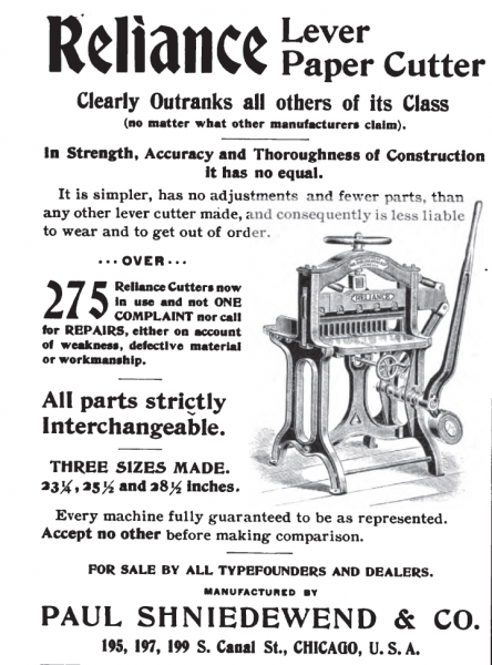 image: Reliance Lever Paper Cutters ad_1896b.png