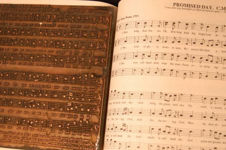 image: Sacred Harp Copper plate with page.jpg