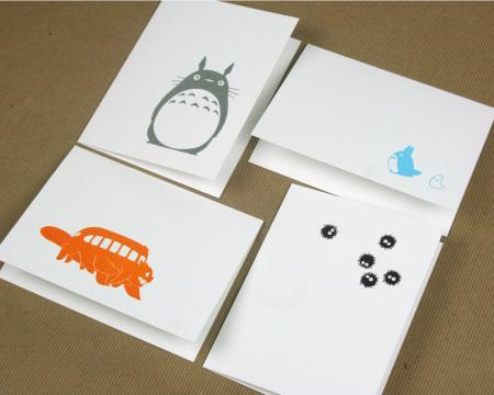 image: Totoro Letterpress Cards