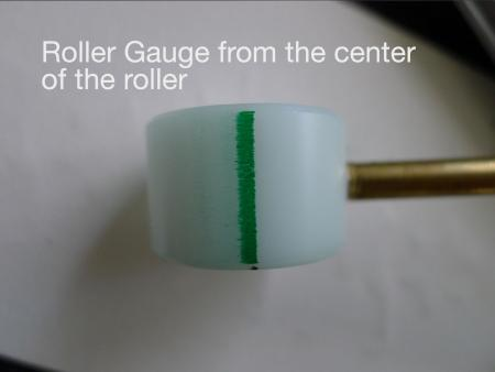 image: Pulling from the center of the roller, although it's mostly uneven like the one below.