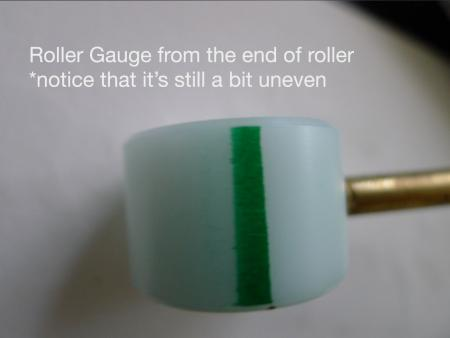 image: End of the roller gauge -- notice how the line is still a bit uneven.