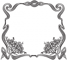 image: Flower ribbon frame