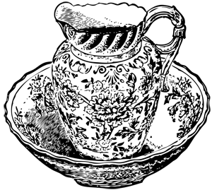 image: Bowl and pitcher