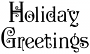 image: Holiday greetings