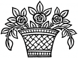 image: Rose basket