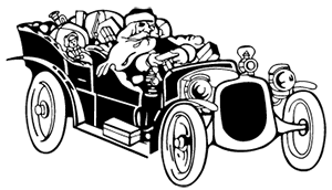 image: Santa in car