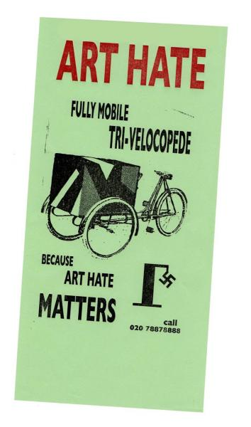 image: art hate handbill - billy childish
